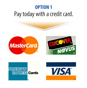 Pay for your tour today with a credit card